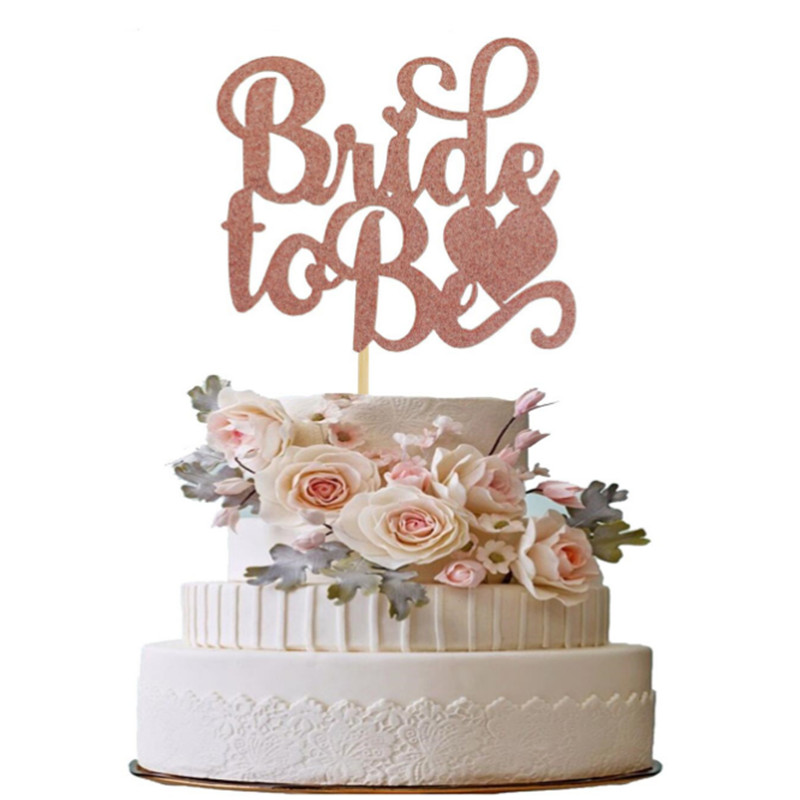 Gold/silver Bride To Be Wedding Decoration Cake Top Hat Bachelor Party Cake Decoration Hen Party Bride Shower Party Decoration-C