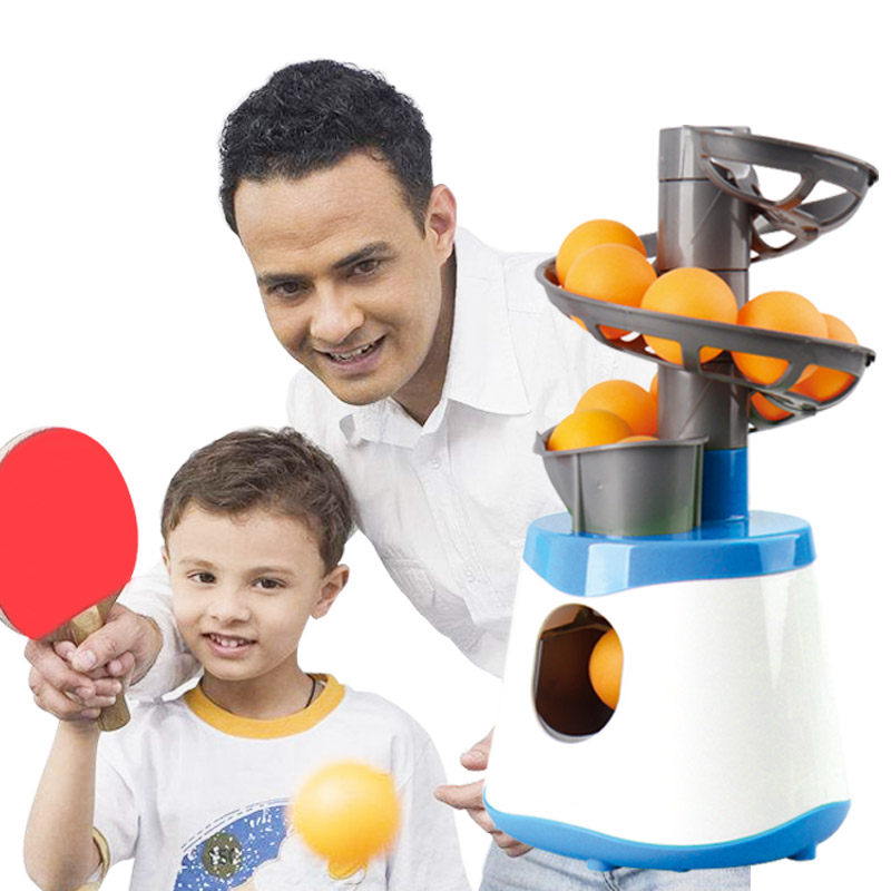 4*AA Mini Table Tennis Robot Parent-child Student Sender Pitching Serve Machine Trainer Gift Racquet Sport 40+ Ping Pong Balls