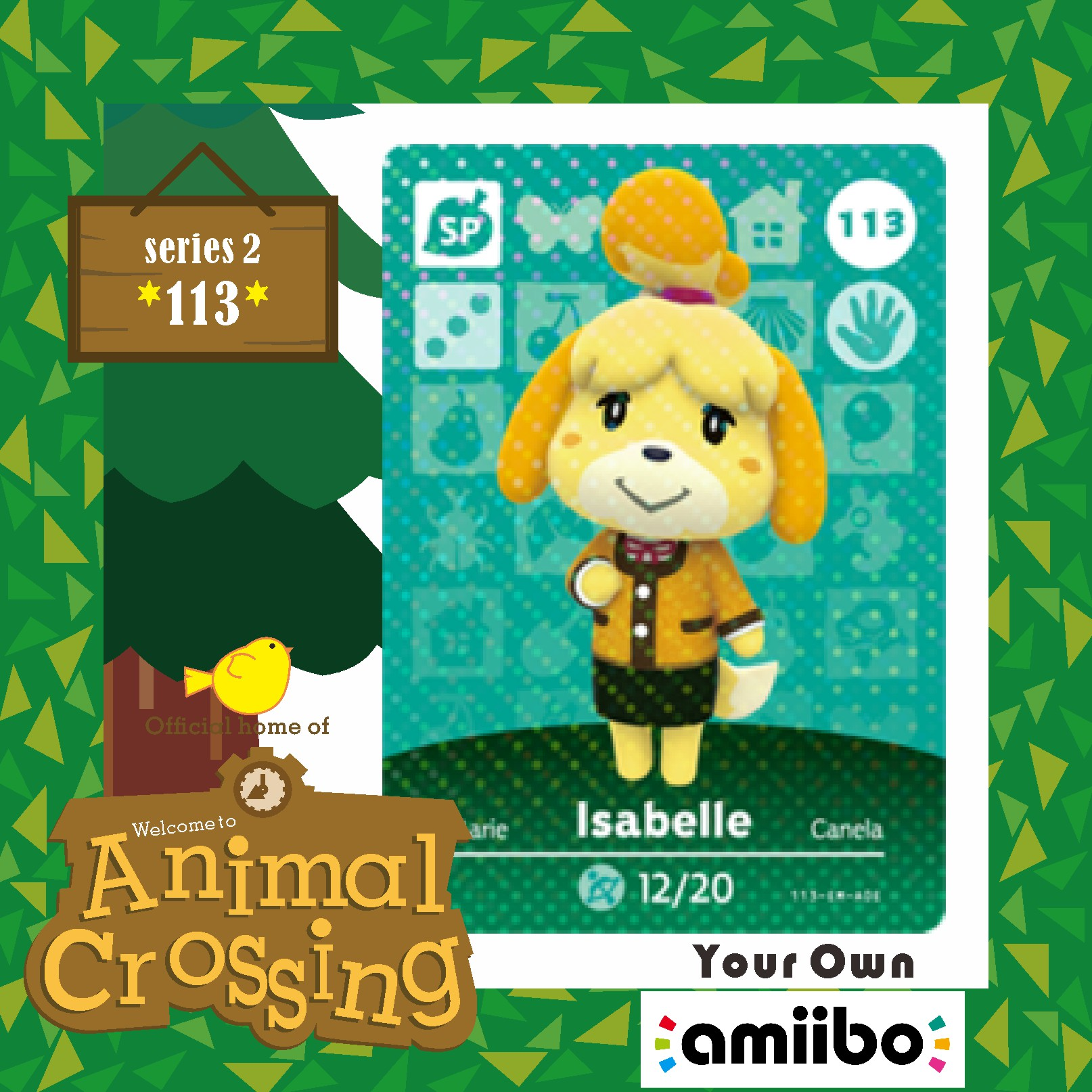 Amiibo Isabelle  Animal Crossing isabel  Welcome Amiibo 001  New Horizons Villager Card Animal Crossing 113 215 301 Series 1 2 3 2