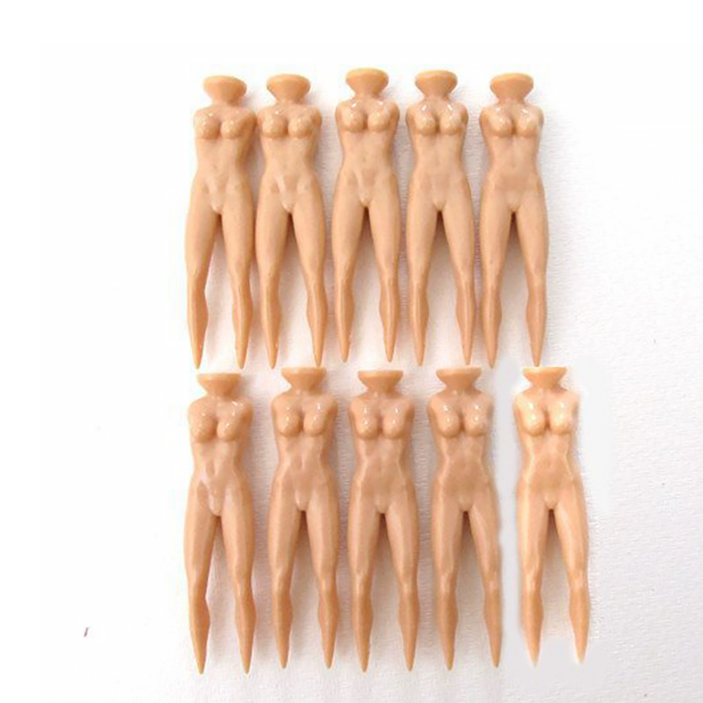 Nude Lady Golf Tee Plastic Practice Training Ball Stud Golf Spike