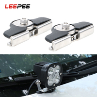 LEEPEE 2Pcs\/set LED Work Light Holders Headlight Auxiliary Mount Bracket Light Braket Auto Replacement Light Universal
