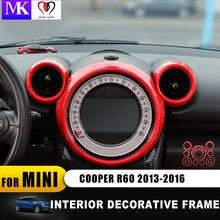 Для mini cooper, countryman, R60 стайлинга автомобилей внутренняя отделка автомобиля стикер кольца центр приборная панель l декоративное кольцо Крышка(8 шт./компл