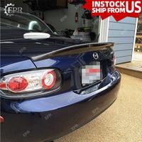 FRP Wing Lip For Mazda MX5 NC NCEC Roster Miata EPA Type 3 Glass Fiber Rear Spoiler (PRHT Hard Top Only) Body Kit Tuning MX5 NC