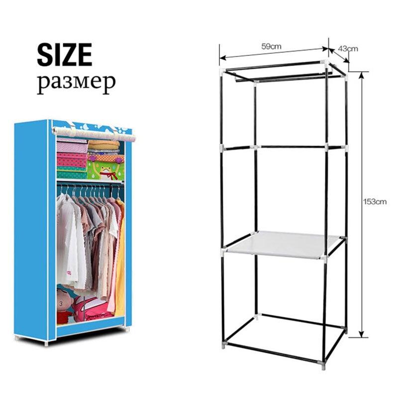 Simple Small Wardrobe Folding Clothes Storage Cabinet Student Dormitory Economic Closet Non-woven Cloth Closet