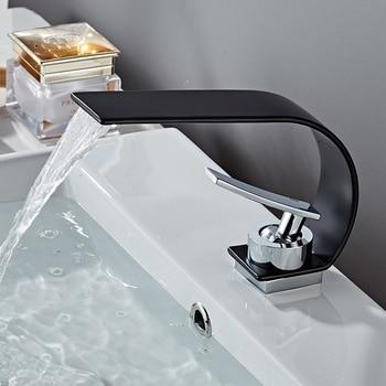 BAKALA Luxury bathroom sink faucet brass matte black basin faucets hot & cold mixer water taps Peculiar shape washbasin tap 9