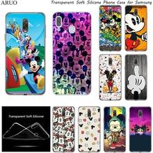 Cute Cartoon Mickey Minnie Soft Silicone Phone Case for Samsung Galaxy A9 A7 A8 A6 A5 Plus 2018 M21 A01 M31 M11 M30s A2 A8S S6 black silicone cover cute girlfriend bff for samsung galaxy a8s a9 a7 2018 a8 a6 plus a5 a3 star 2018 2017 phone case
