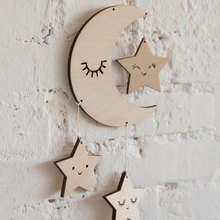 Nordic Cute Star And Cloud Shape Wooden Pendant Kids Room Decoration Wall Hanging Ornament Wind Chimes Photo Prop L(China)
