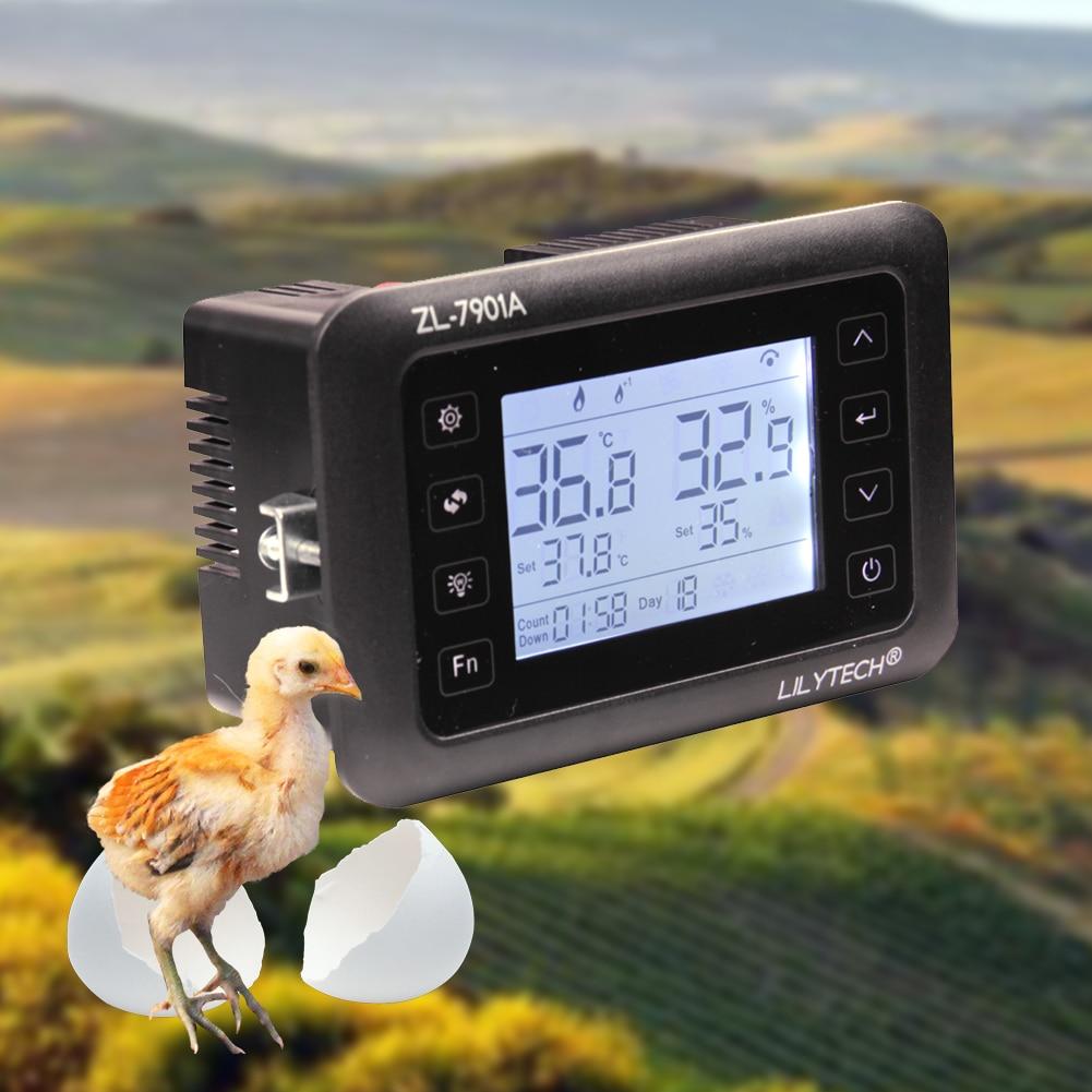 Proteção de Controle de Tempo de Rotação de Controle de Temperatura e Umidade Da Incubadora do ovo Automático Função de Alarme De Temperatura E Umidade Do Sensor