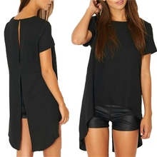 Hot sale Fashion Casual Women Sleeveless Style Solid Shirts Round Blusas
