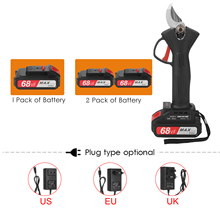 Cordless Pruner Electric Pruning Shear with 2000mAh Lithium-ion Battery Efficient Fruit Tree Bonsai Pruning Branches Cutter