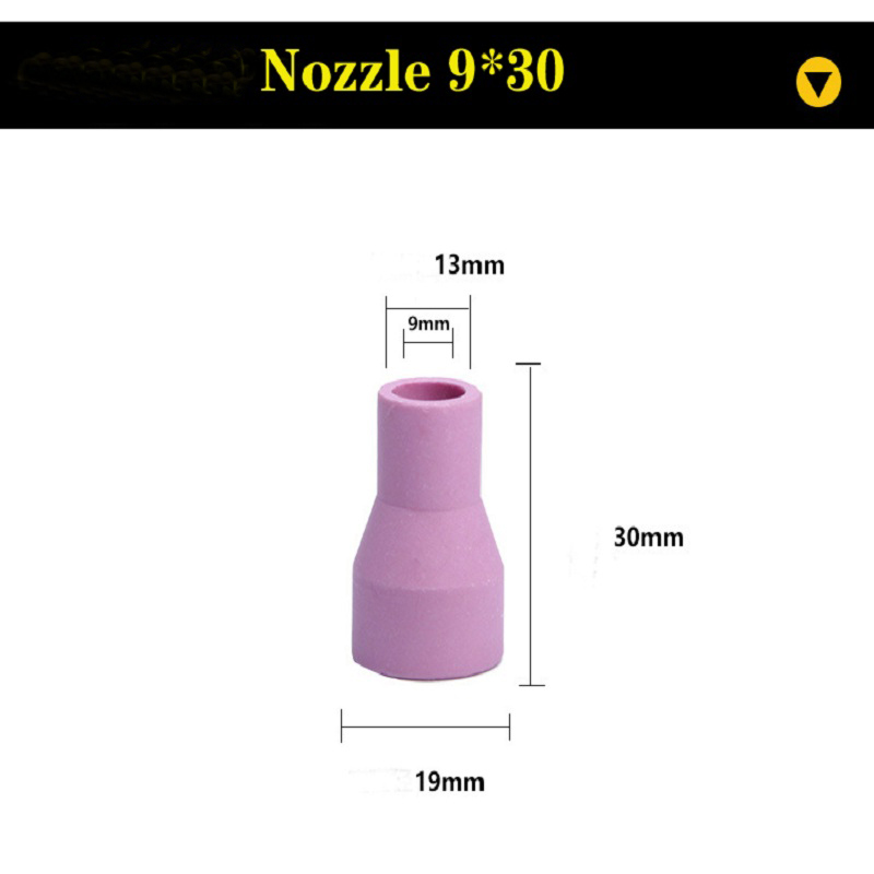 2 sztuk TIG dysza gazowa ciała różne rozmiary zestaw dla TIG palnik do spawania WP17/18/26 palnik do spawania es zestawy narzędzi