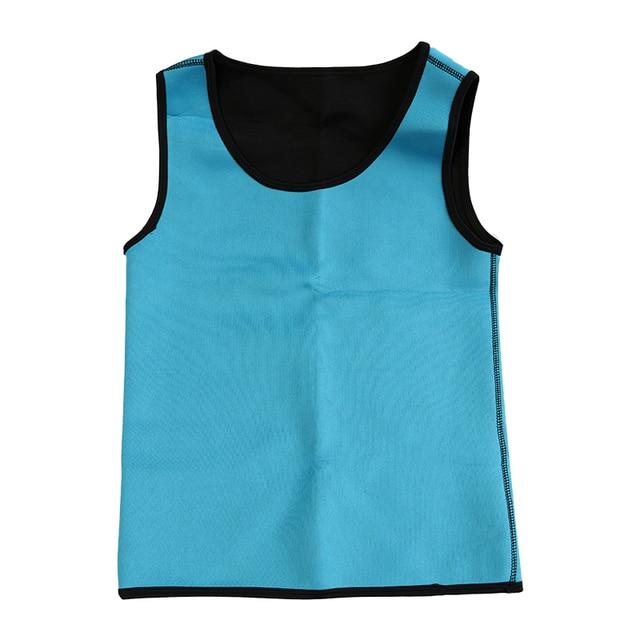 Slimming Belt Belly Men Slimming Vest Body Shaper Neoprene Abdomen Fat Burning Shaperwear Waist Sweat Corset Tank Tops 2