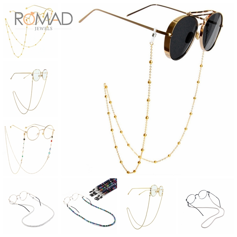 Handmade Reading Glasses Chain Retro Imitation Pearl Beaded Sunglasses Chain Eyeglasses Necklace Eyewear Glasses Frames Rope R40