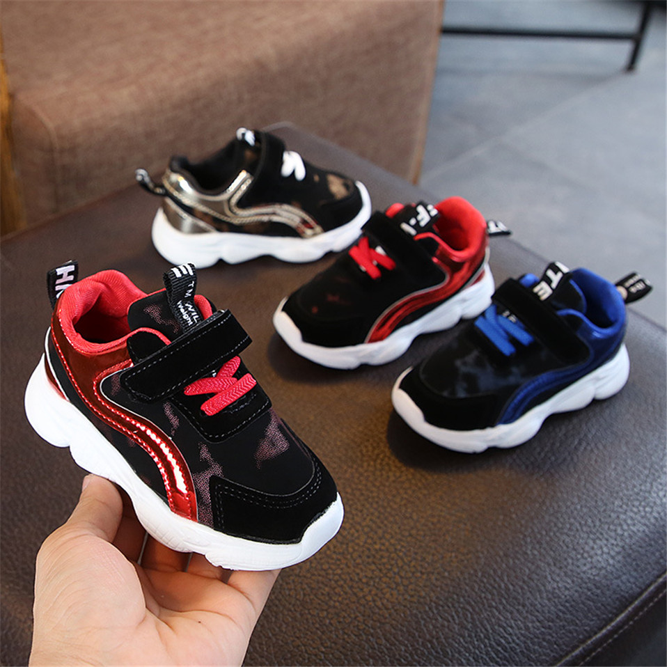 2020 Spring Kids Sports Shoes Children Casual Boys Patchwork Sneaker Fashion Autumn  Girls Student Boots Anti-Slip Shoes