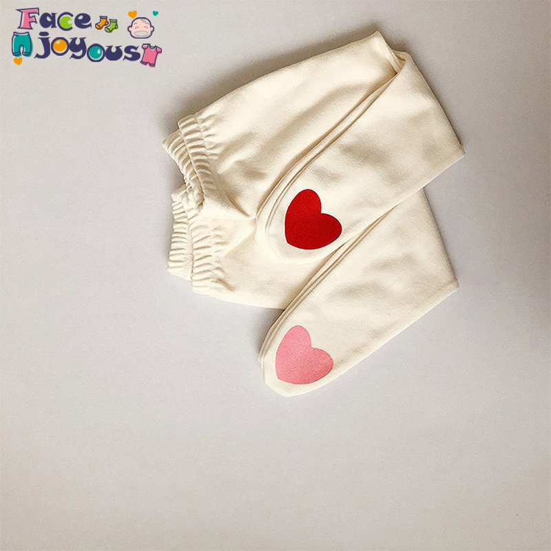 Newborn Spring Autumn Baby Girls Pantyhose Cute Love Heart Printing Kids Pants For Girls Pantyhose Baby Girl Stockings