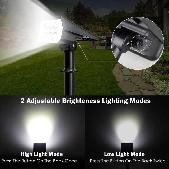 T-SUN 20LED Adjustable Solar Spotlight Solar Garden Light IP65 Super Bright Landscape Wall Light Outdoor Light 6000k Solar Lamp 2