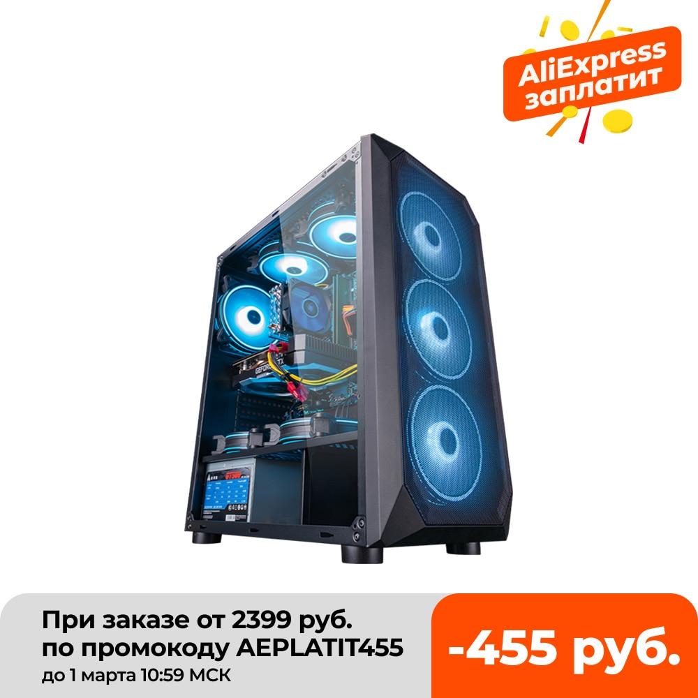 Intel в собранном виде настольный компьютер Intel Ксеон E5-2650L 8-ядерный/RX560/GTX960 4G/16G Оперативная память 240G SSD дешевые игровой ПК высокой эффективнос...