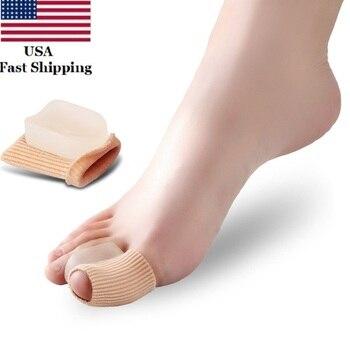 US 2PCS Hallux Valgus Splint Correction Silicone Bunion Thumb Orthopedic Bone Big Toe Separator Finger Pedicure Foot Care Tool