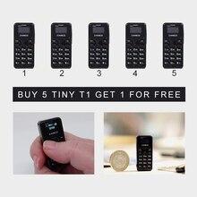 Мини-телефон Zanco T1 5 шт. 2G Самый маленький в мире телефон Zanco Tiny T1(подарок при каждой покупке) Купи 5, получи 1 бесплатно
