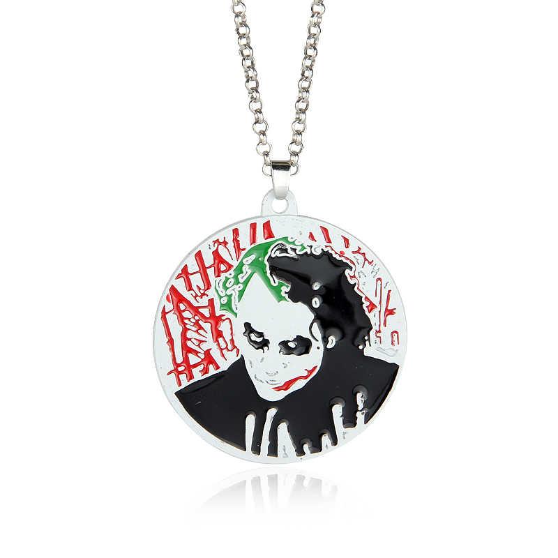 Moda biżuteria batman clown wisiorki naszyjniki choker łańcuszek naszyjniki mężczyźni Collares Fine Cosplay Party prezent na Boże Narodzenie