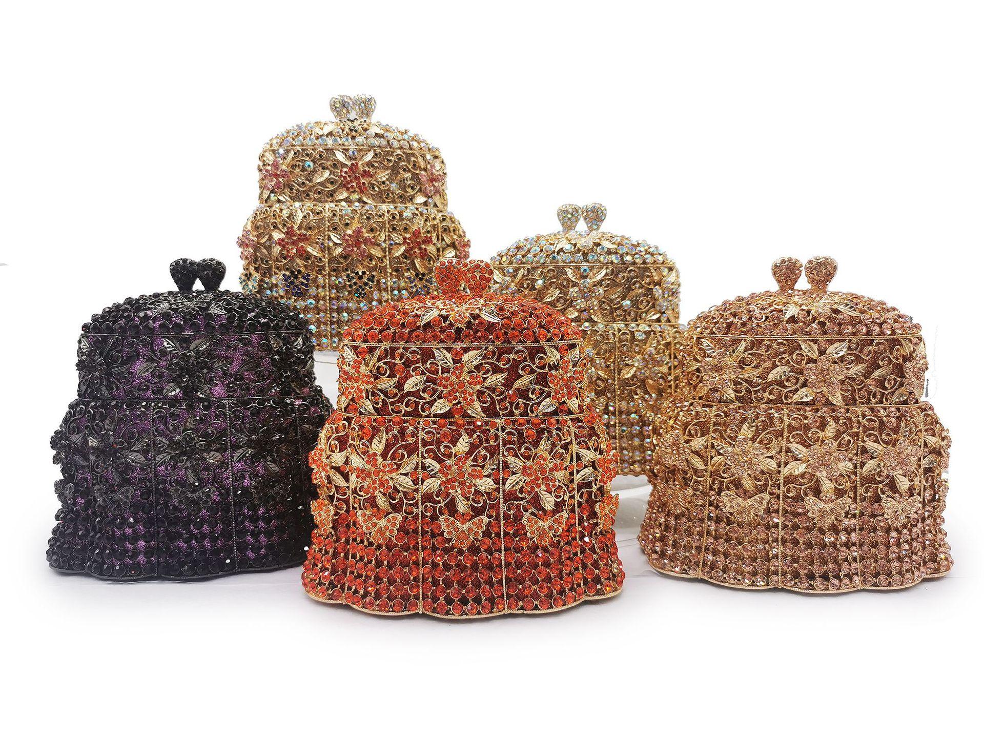 Bag For Women Luxury Bridal Wedding Party Purses Elegant Purses Women Evening Party Fashion Purses Diamonds Windbell Crystal Bag-BeeInFly
