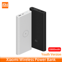 Xiaomi Wireless Power bank Youth 10000mAh WPB15ZM USB Type C Mi Powerbank 10000 Qi Fast Wireless Charger Portable Charging