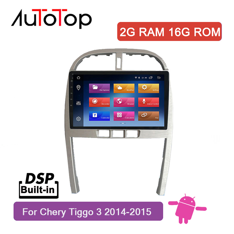 "AUTOTOP 2din 10.2"" Android 8.1 Car Video for Chery Tiggo 3 2014 2015 with 2.5D HD Touch Screen Wifi Mirrorlink BT Split Screen(China)"