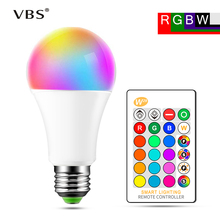 E27 LED Bulb Lamp 5W 10W 15W RGB + White 16 Color LED Lamp SMD5050 +  SMD2835 Changeable RGB Bulb Light With Remote Control стоимость