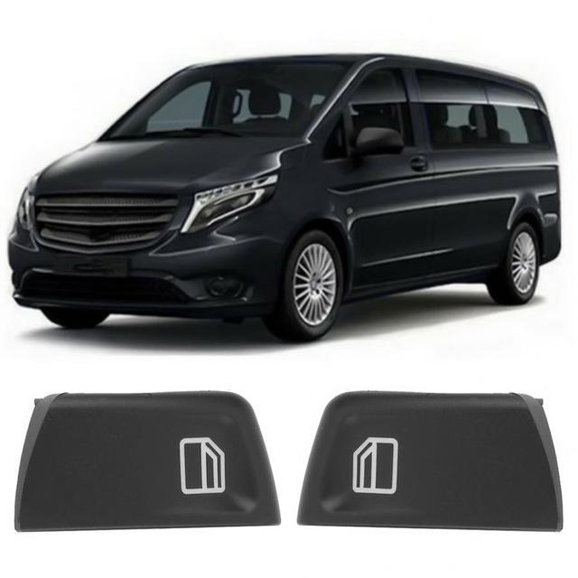 2pcs Car Window Switch Covers for Mercedes Vito Viano W639 Sprinter II 906 2003 2004 2005 2006 2007 2008 2009 2010 2011 2012