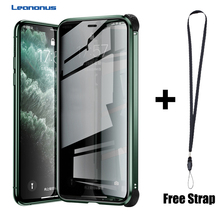 Magnetic Tempered Glass Privacy Silicone Edge Shockproof Case For iPhone 11 Pro XS MAX X XR Case For iPhone 6 6S 7 8 Plus Cover