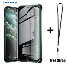 磁気強化ガラスプライバシーシリコーンエッジ耐衝撃ケース iphone 11 プロ XS MAX X XR ケース iphone 6 6S 7 8 プラスカバー