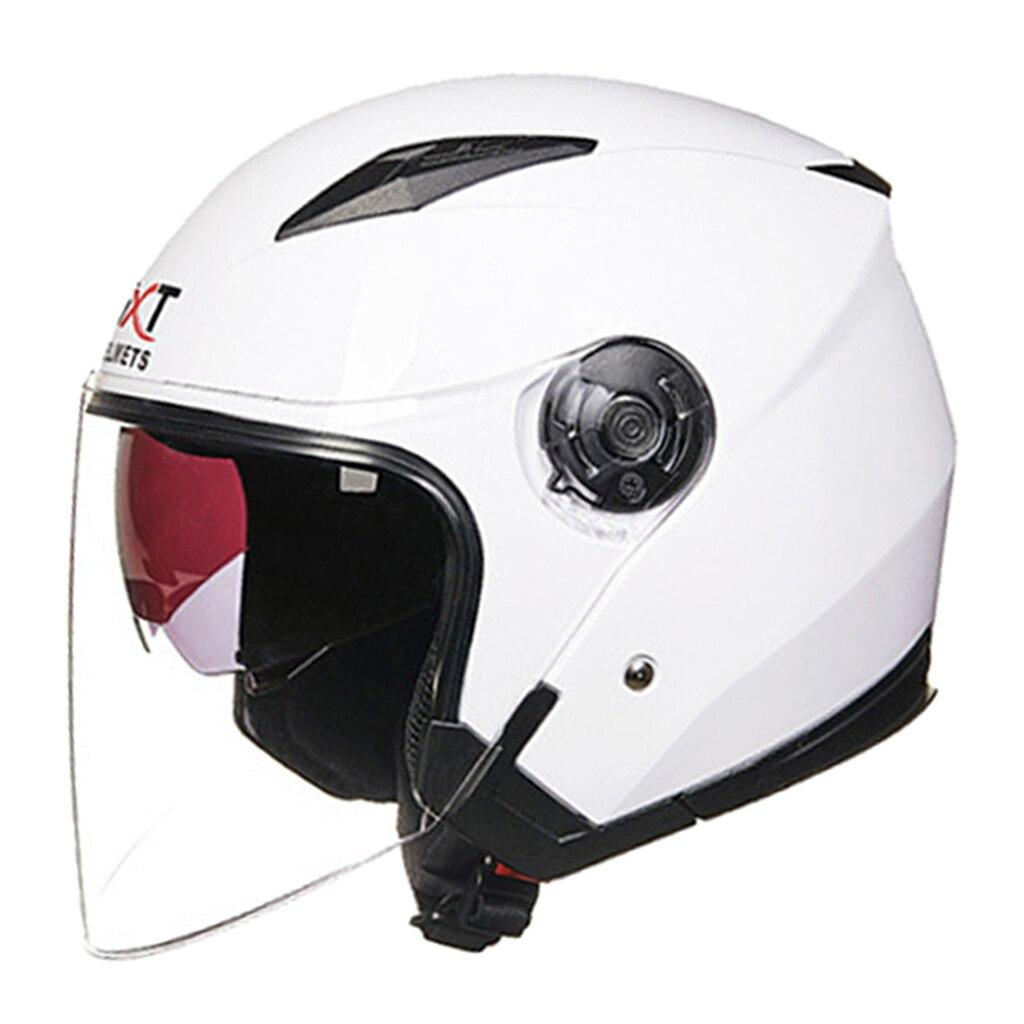 Универсальный мотоциклетный полушлем с солнцезащитным козырьком для взрослых мужчин и женщин