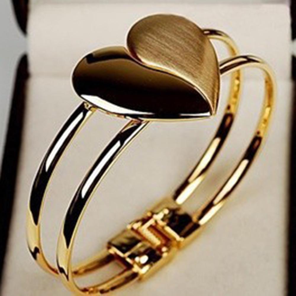 2019 New Top Fashion Bracelet Lady Girl Elegant Heart Bangle Wristband