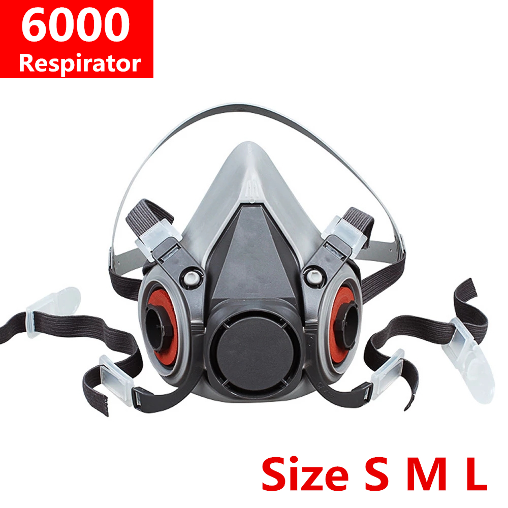 Size SML 6100 6200 6300 Respirator Chemical Gas Dust Mask Body Paint Spray Half Face Style Construction Pro Protection Tool