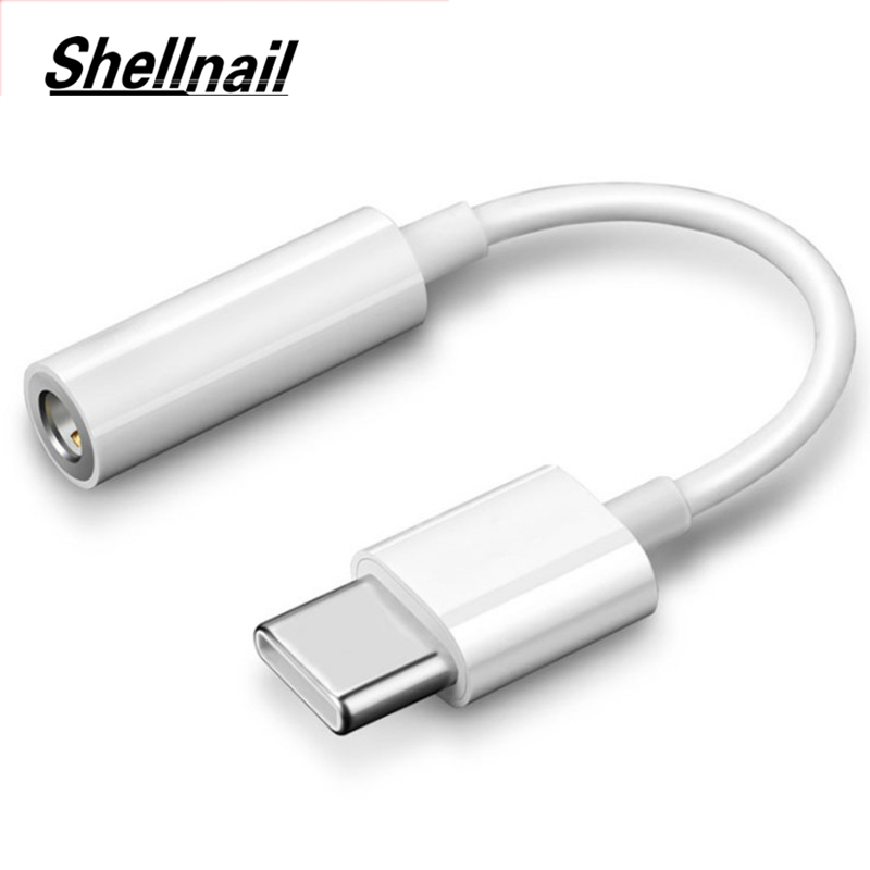 Shellnail Cable Adapter USB-C Type C To 3.5mm Jack Headphone Cable Audio Aux Cable Adapter For Xiaomi Huawei For Smart Phone