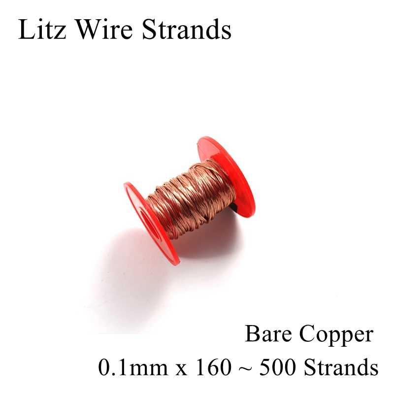 0.1mm 160 180 200 230 250 500 brins de fil Litz fils multi-brins de cuivre émaillé polyuréthane 0.1