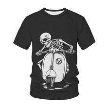 2021 New 3D Printed Horror Skull Men's and Women's T-Shirt Children's Fun Fashion Casual Short Sleeve Top