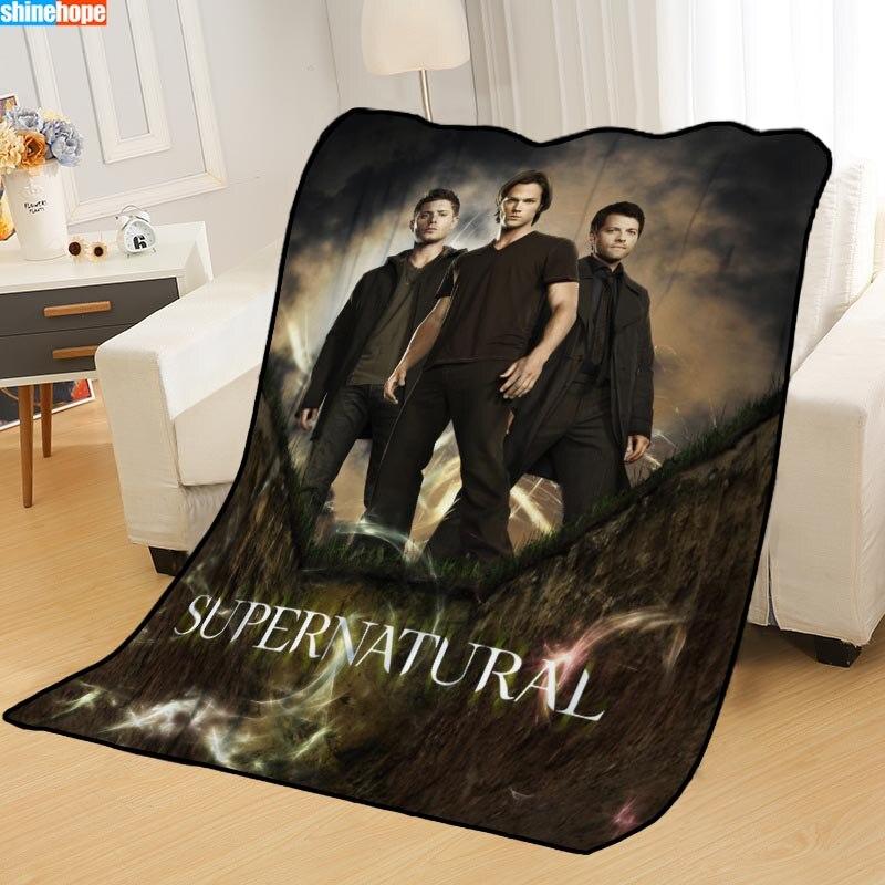 Custom Supernatural Blankets For Beds Throw Blanket Soft Blanket Summer Blanket Anime Blanket Travel Blanket Big Size 145X200cm