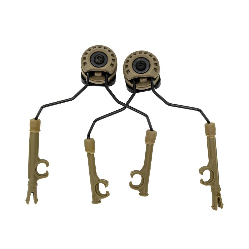 ARC helmet rail bracket for COMTAC I II III IV headset, tactical headphone adapter DE