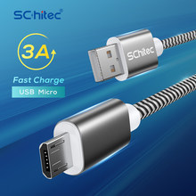 Schitec Micro USB Cable 3A Nylon Fast Charging USB Type C Cable for Samsung Xiaomi HTC USB Charger Data Cable Mobile Phone Cable