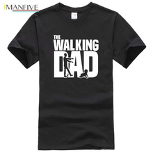 The Walking Dad T Shirts Men Tops Casual Cotton Fathers Day Short Sleeve Funny Gift T-shirt Tee OT-627