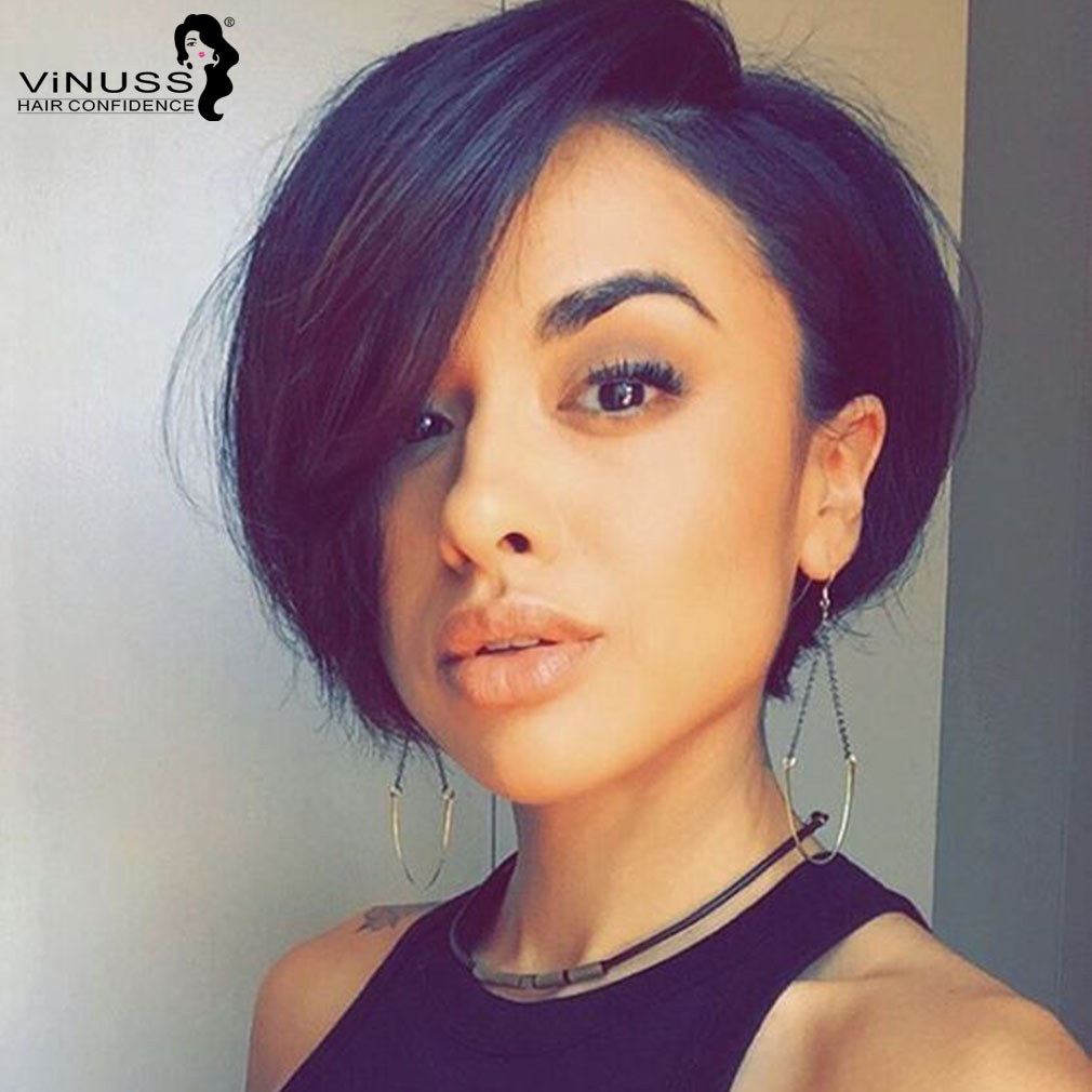 Pixie Cut Lace Front Human Hair Wigs For Women Remy Brazilian Short Bob Pixie Human Hair Wig 13×4 Front Lace Wigs Vinuss