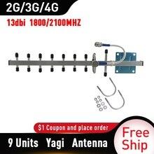 Tfxsigbos 1800/2100Mhz 4G Lte Gsm 3G 4G Lte Antenne 13dBi Outdoor Antenne 2G 3G 4G Externe Yagi Antenne Voor Signaal Booster