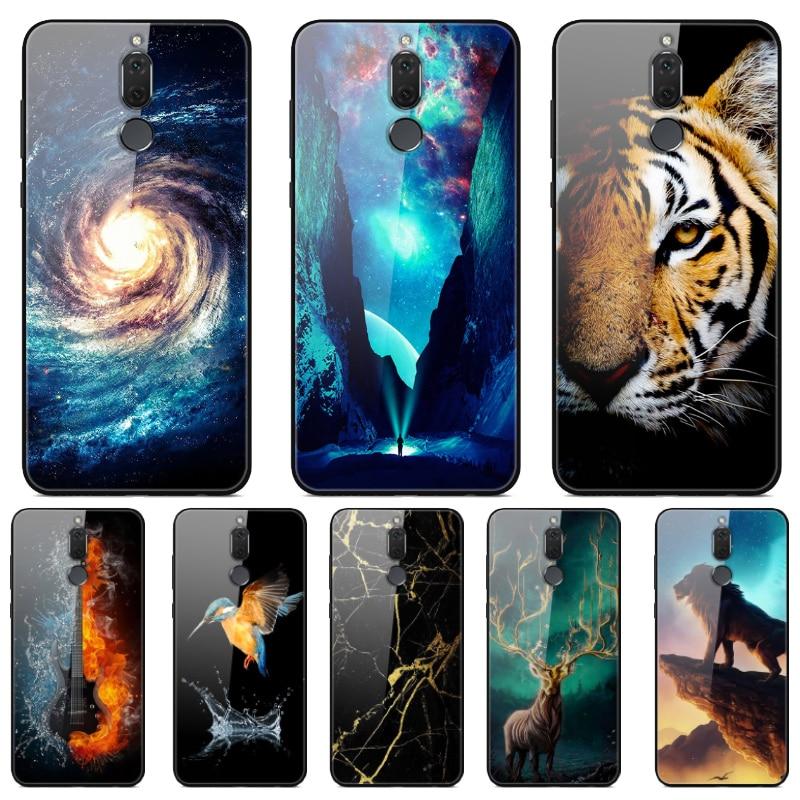 Tempered Glass Phone Case For Huawei Mate 10 Lite Case Cover For Huawei Nova 2i Case Mate10 Lite 10Lite Nova2i Silicone Bumper