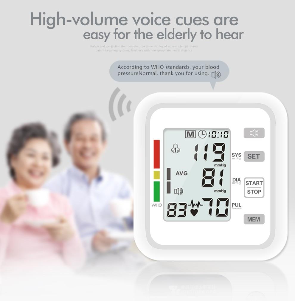 Arm Automatic Blood Pressure Monitor BP Sphygmomanometer Pressure Meter Tonometer For Measuring Arterial Pressure
