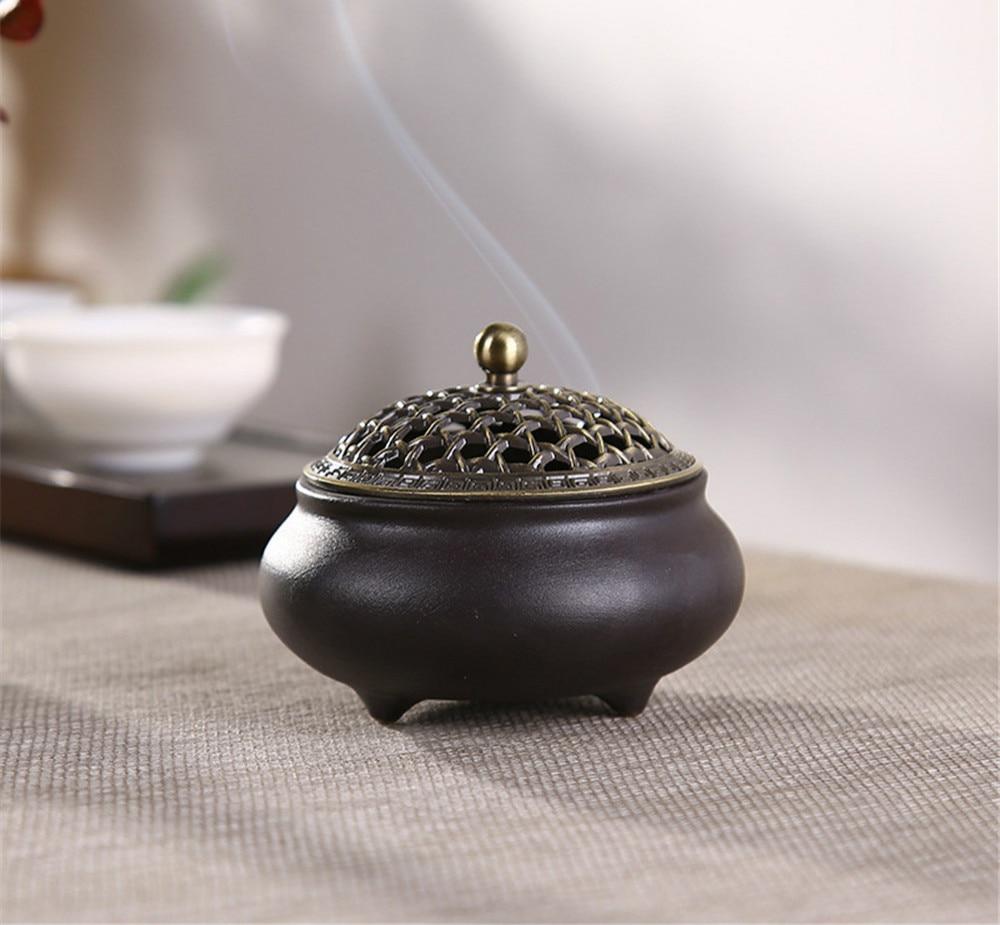 Cerâmica mosquito repelente queimador de incenso bobina