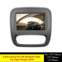 Araba ses radyo 2 Din DVD fasya için Renault Trafic Opel Vivaro 2015 + Stereo paneli plaka montaj Dash kurulum çerçeve