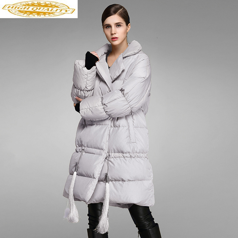 2020 New Women's Down Jacket Warm Winter Coat Long 90% White Duck Down Jacket Women Parka Korean Puffy Jacket 8007 KJ2788