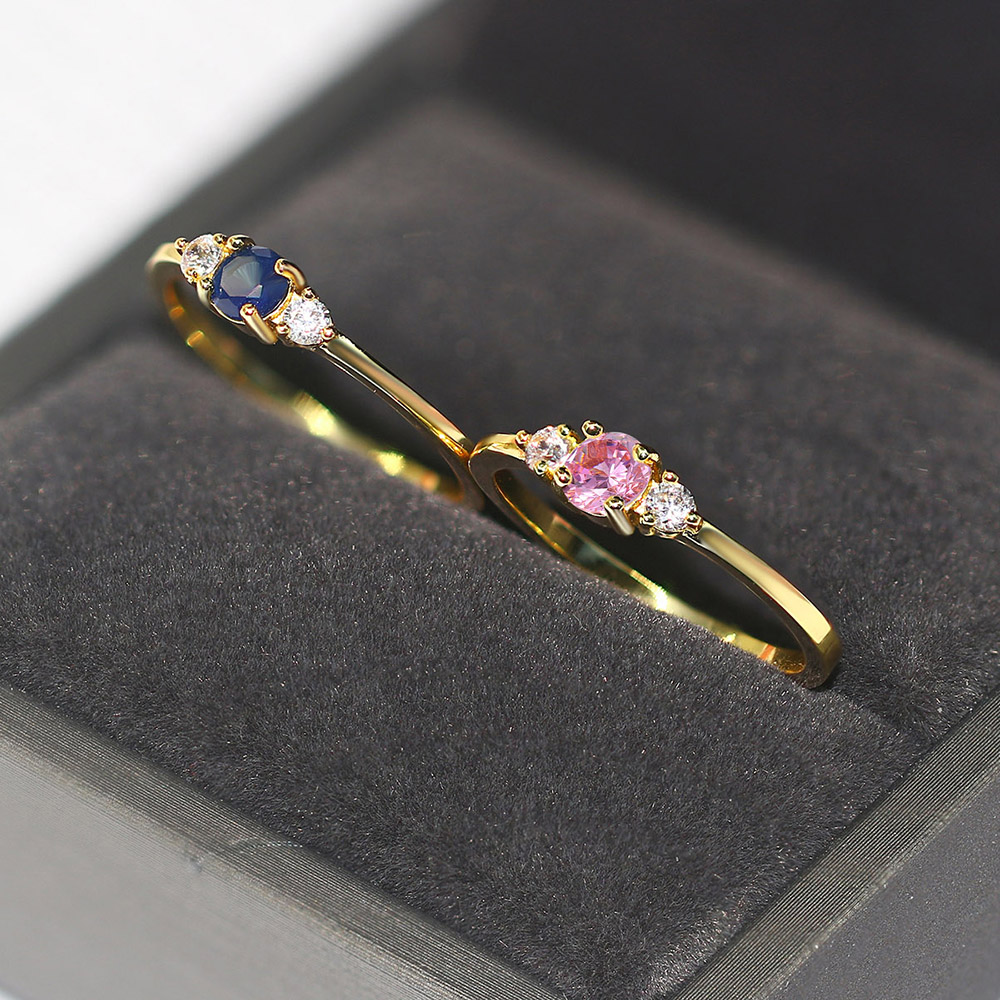 ZHOUYANG Slim Wedding Rings For Women Delicate Cubic Zirconia Light Gold Color Proposal Finger Ring Gift Fashion Jewelry R872