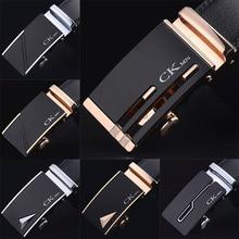 7,30€ Cinturón de cuero genuino de vaca de alta calidad, cinturones de cuero de lujo, hebilla automática de Metal 2020